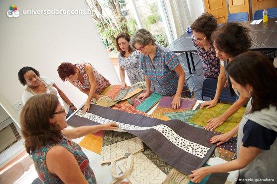 Workshop de estamparia manual com Ivone Rigobello - no Universo da Cor, abr/2014
