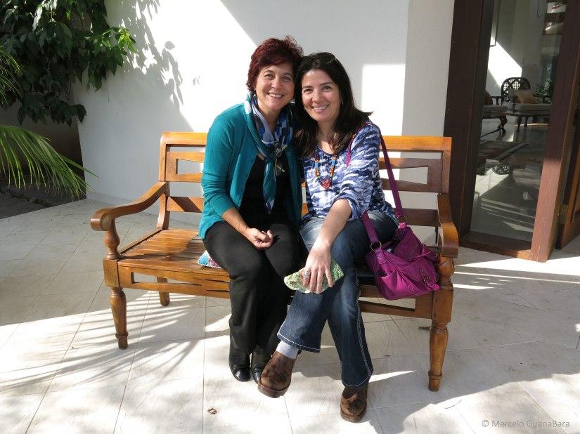 Tania Martins com Lilian Ried Miller Barros