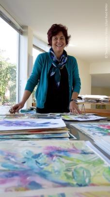 Tania Martins em seu atelier / Fotos: Lilian Ried Miller 2014