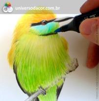 Workshop de ilustração com Copic , com Lilian Ried Miller no Universo da Cor - SP
