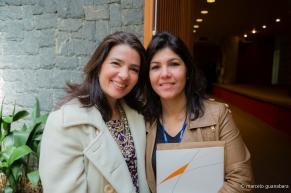 Lilian e Eloisa Regina Aranha da área de eventos do Senac São Paulo